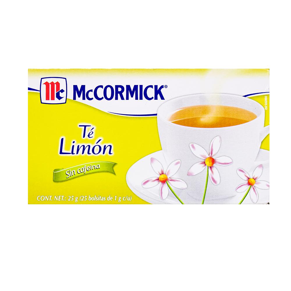TE DE  LIMON MCCORMICK 25 SOBRES