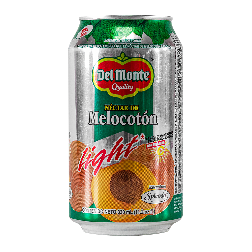 NECTAR LIGHT MELOCOTON DEL MONTE LATA 330 ML