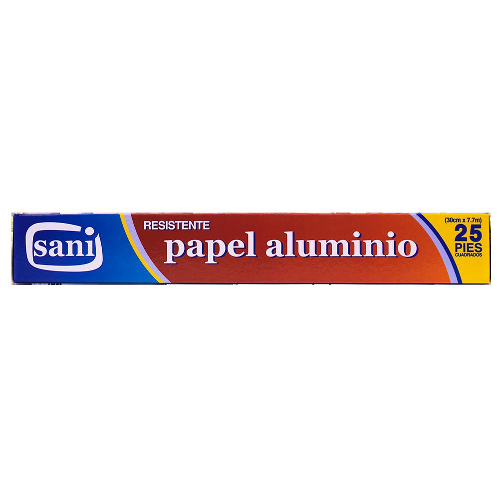 PAPEL ALUMINIO SANI 25 PIES