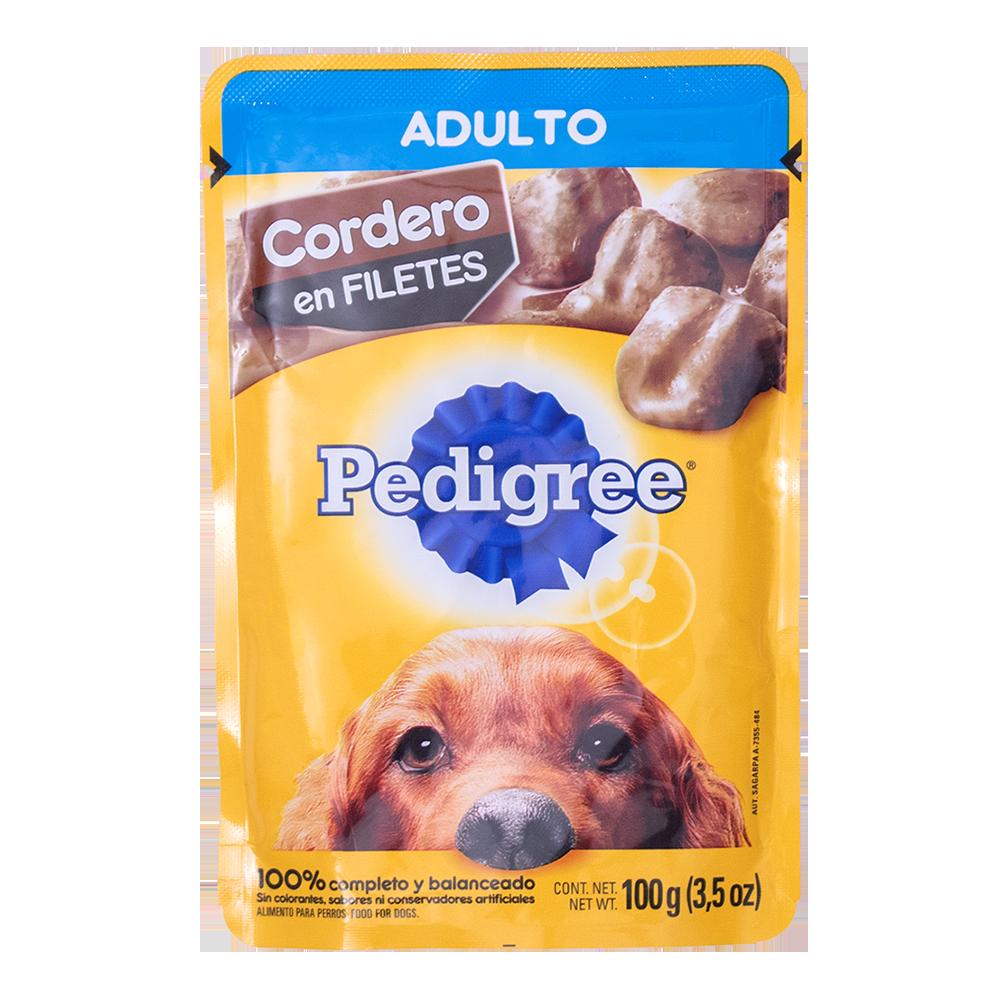PEDIGREE ADULTO CORDERO FILETE 100GR