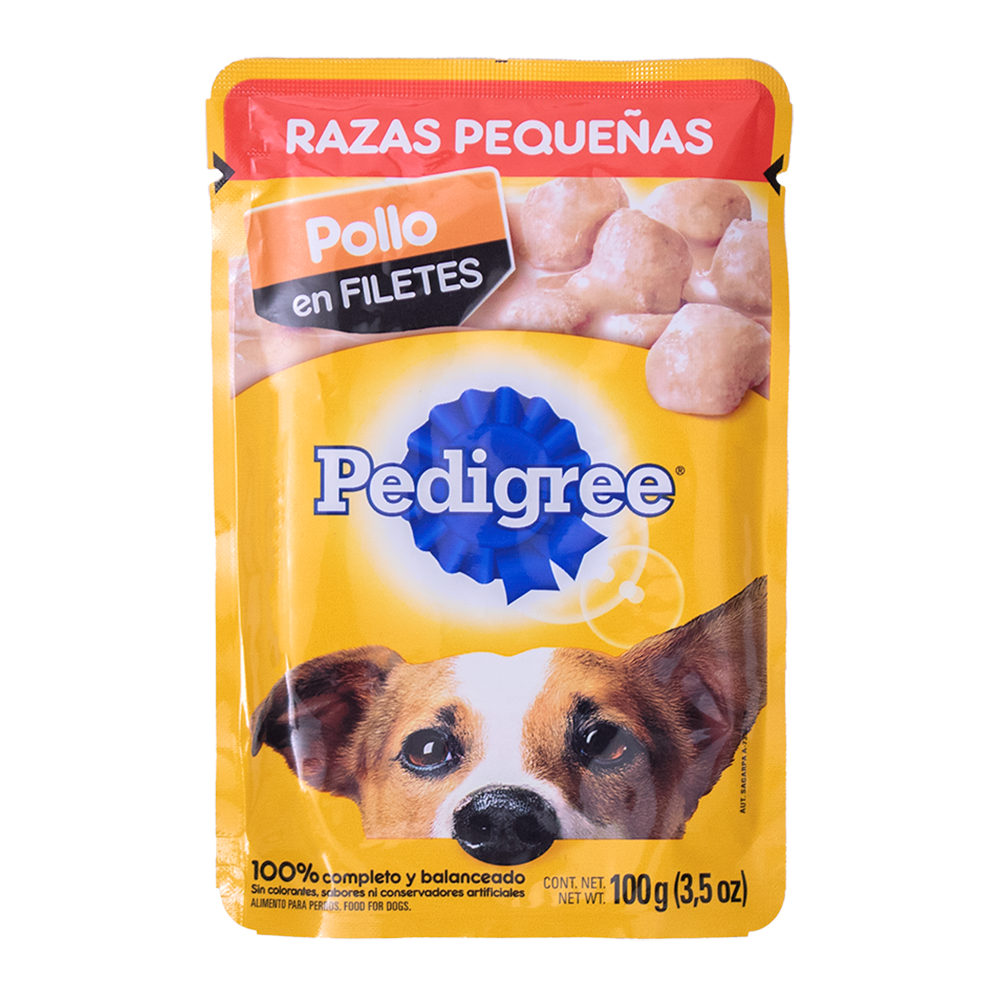 PEDIGREE RAZA PEQUEÑA POLLO EN FILETES 100 GR