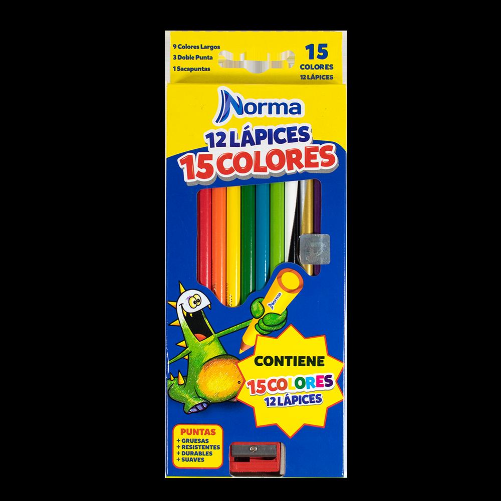 COLORES NORMA X 12-15/3 DOBLE PUNTA CIRCULAR 12 U