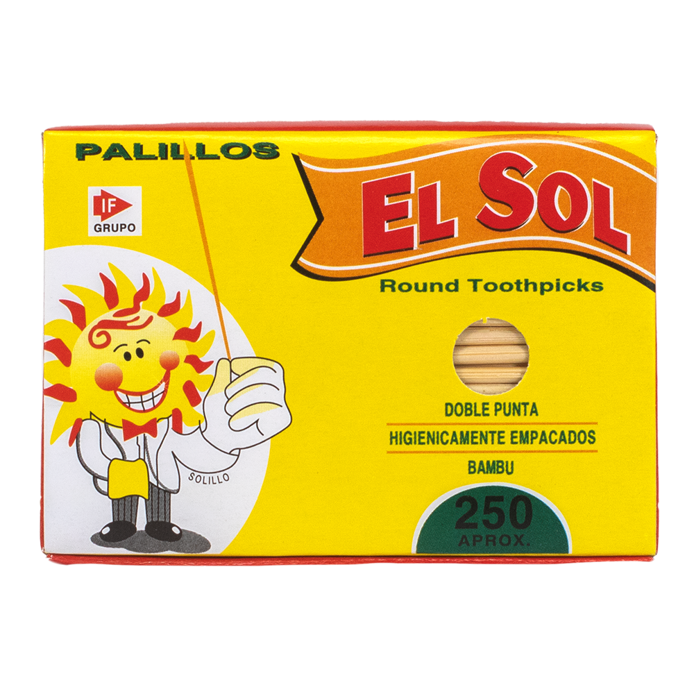 PALILLO DE DIENTE SOLCAJAS 250 PALILLOS